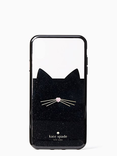 Kate Spade New York Jeweled Glitter Cat iPhone Case