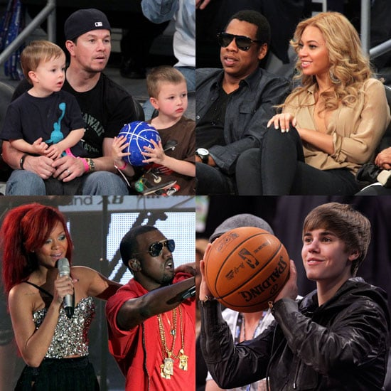 Pictures of Celebrities at 2011 NBA All-Star Game