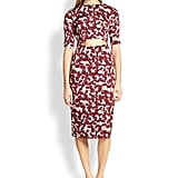 Suno Floral-Print Cutout Dress