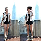 Go for sporty with a moto-inspired vest and a pair of pumped-up kicks. Photo courtesy of Lookbook.nu
