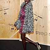 Supermodel Alek Wek got a leg up on the competition, already scoring the looped wool cardigan coat.  Photo courtesy of H&M
