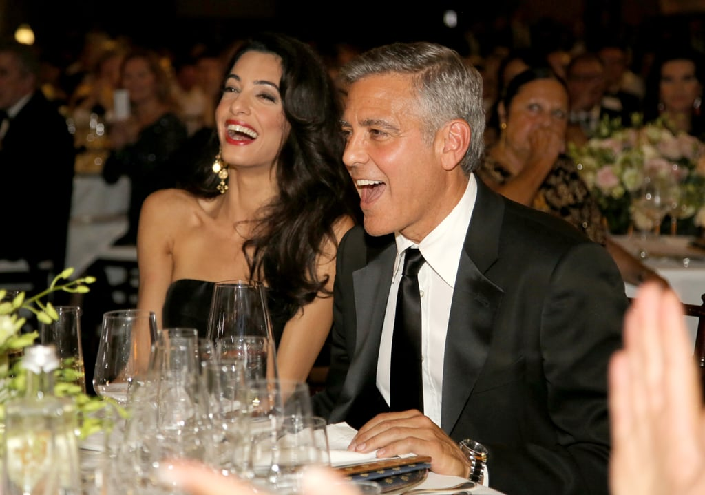 George and Amal laughed out loud during a charity event in Florence, Italy, in September 2014.