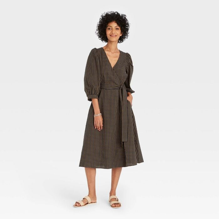 A Customer Favorite: A New Day 3/4 Sleeve Wrap Dress