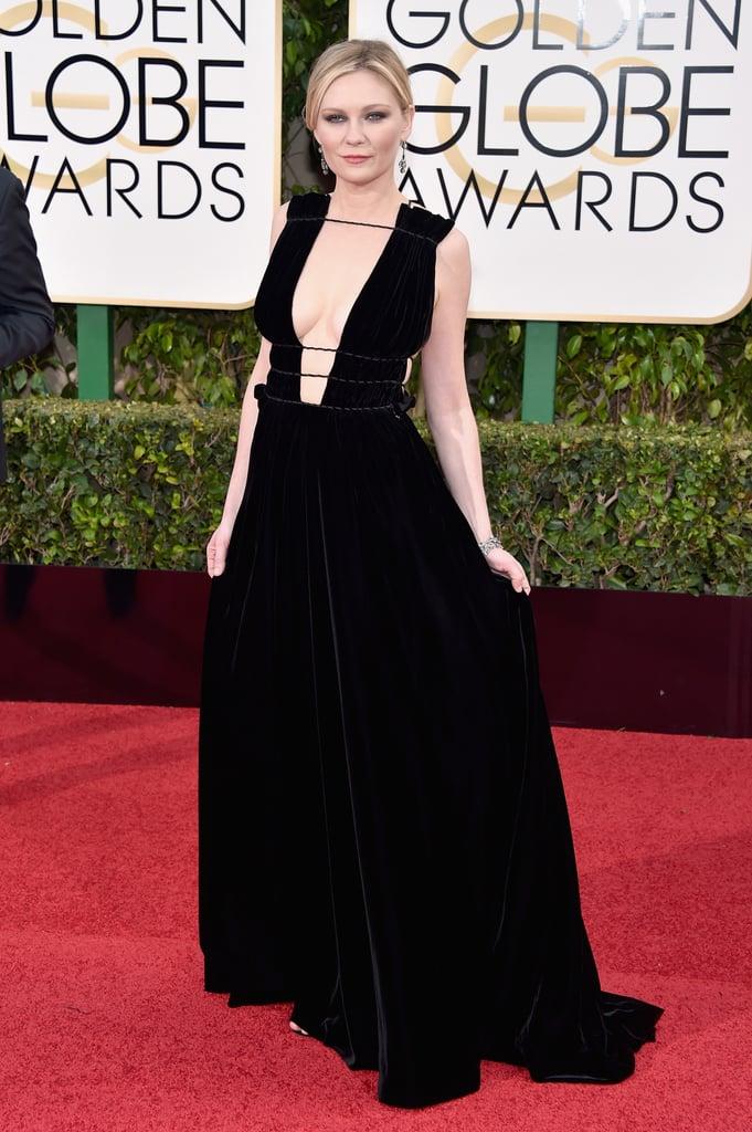 Kirsten Dunst's Dress at the Golden Globes 2016