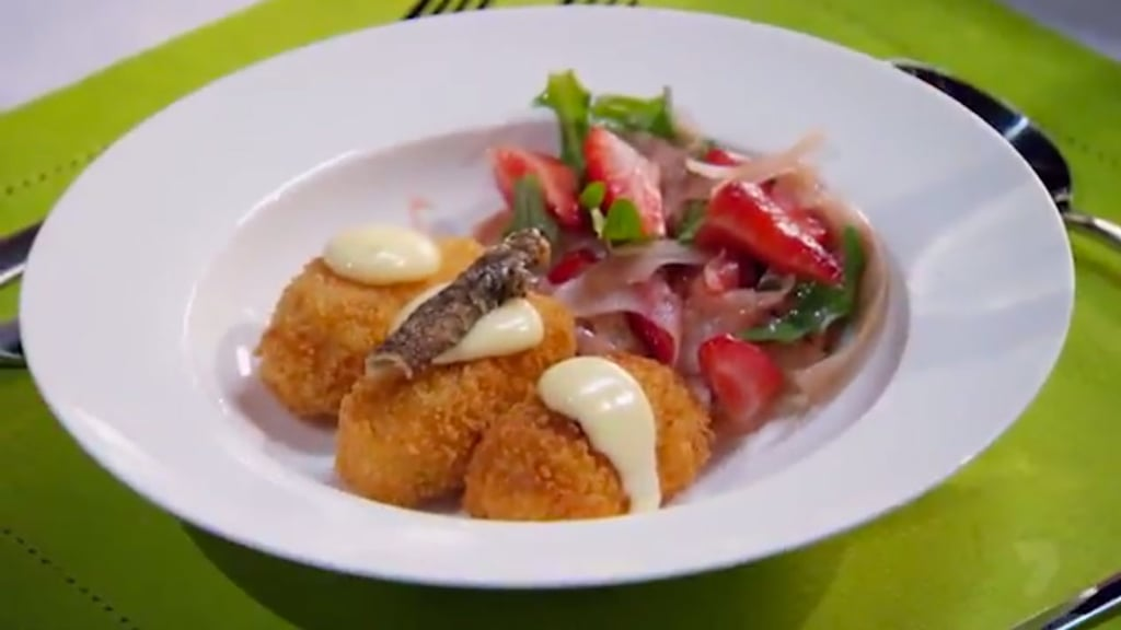 The dish: salmon croquettes with lime aioli.