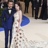 "Bee showed off her engagement ring when she attended the 2017 Met Gala with her fiancé Francesco Carrozzini. Bee wore Alexander McQueen to the ""Rei Kawakubo/Comme des Garcons: Art Of The In-Between"" themed ball."