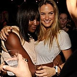 Naomi Campbell and Bar Refaeli together at Studio 54.