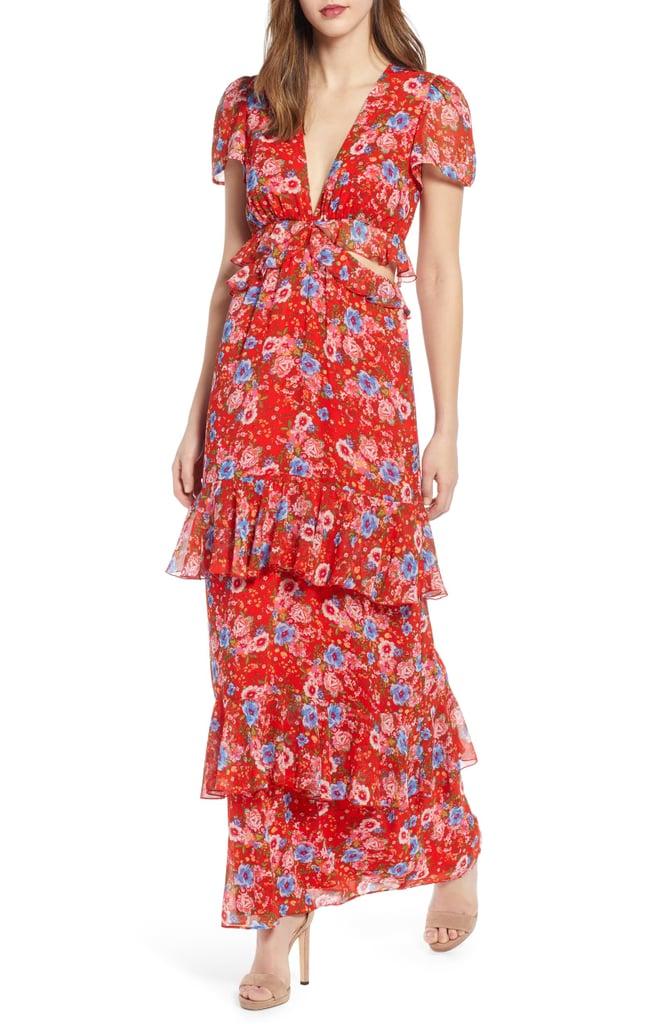 WAYF Lavina Tiered Maxi Dress