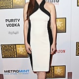 Julianne Moore showed off her shape in a fitted Jason Wu sheath.