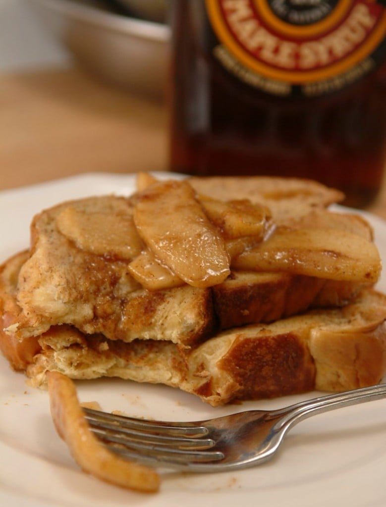 Challah French Toast With Warm Maple Apple Compote Healthy French