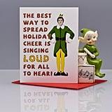 Elf Funny Christmas Card