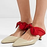 The Row Coco Leather and Satin Mules