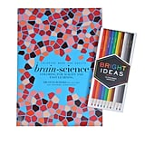 Brain-Science Coloring Book and Colored Pencils