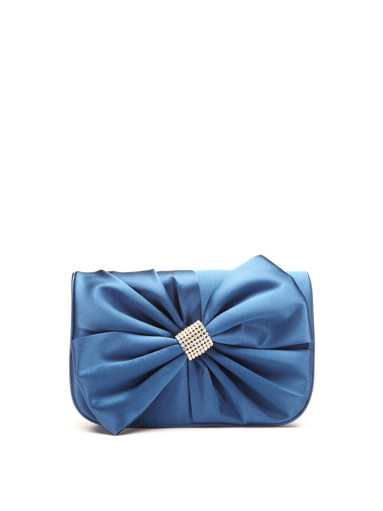 "Badgley Mischka's Lulu clutch ($149, originally $295) is the perfect ""something blue."""