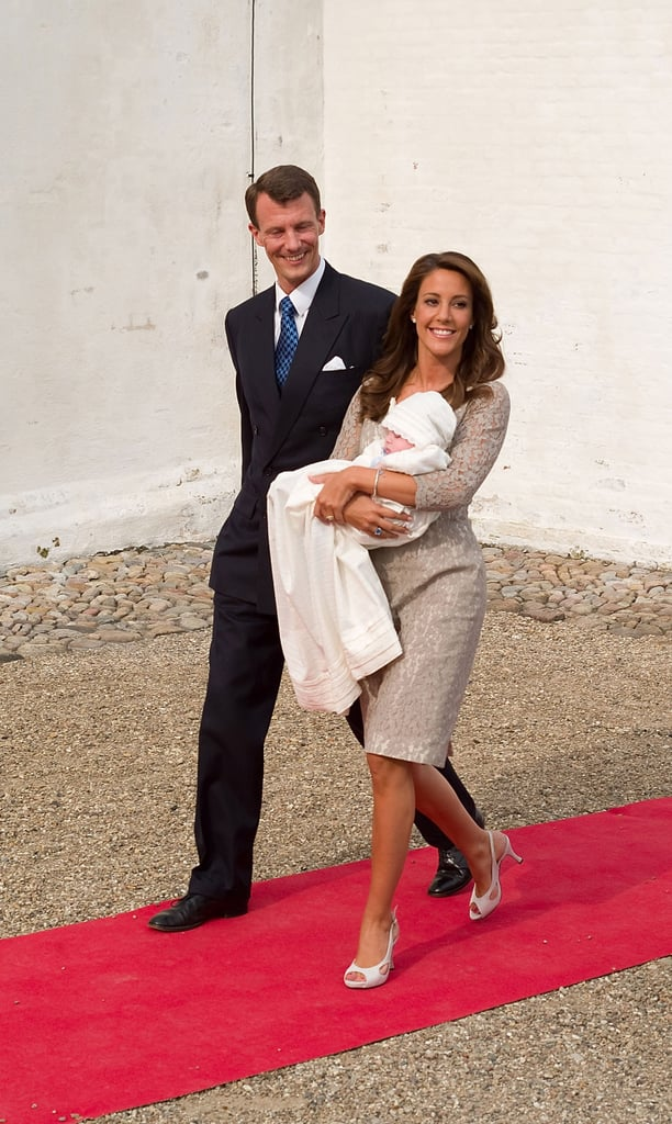Princess Marie's Lace Cocktail Dress Is Standout, Even in Taupe