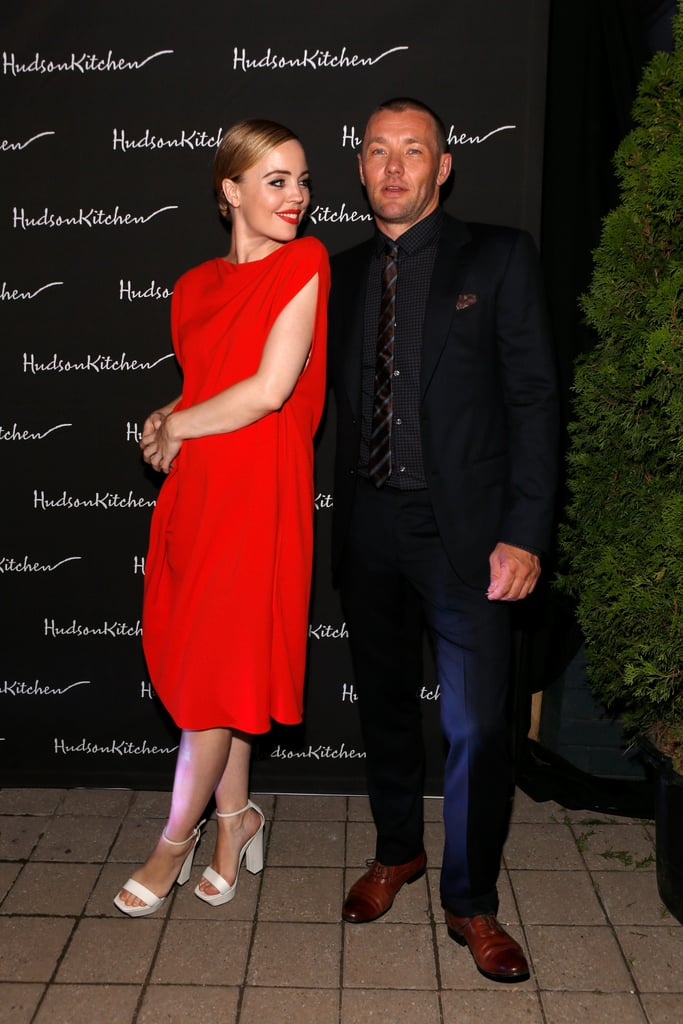 Melissa George and Joel Edgerton caught up at the cocktail party for Felony.