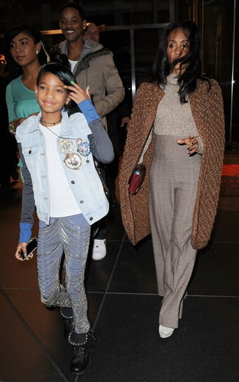 Will, Jada and Willow Smith were spotted in New York City Monday evening (October 18).