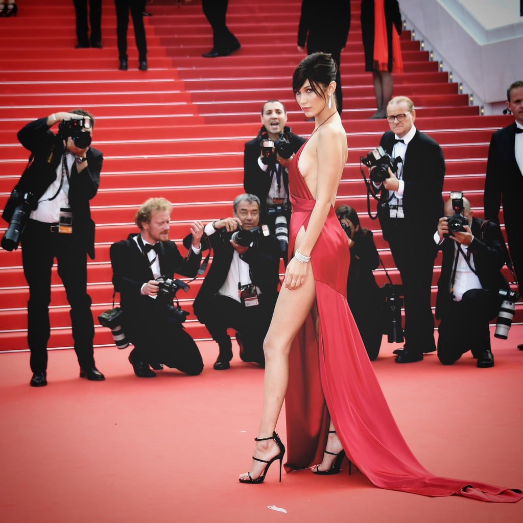 Bella Hadid made headlines during her Cannes debut in 2016 with a slinky red Alexandre Vauthier gown that showed lots (and lots) of skin.
