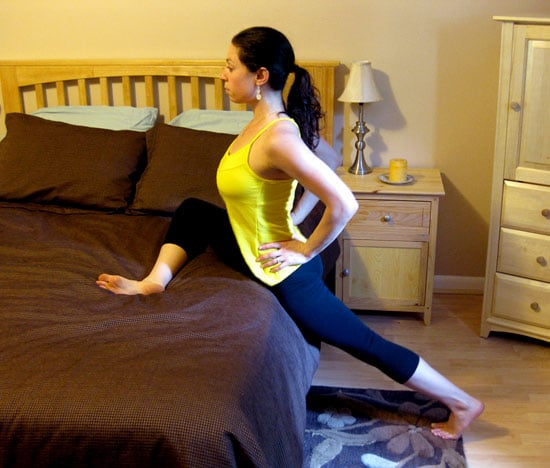 Bed Stretches: Standing Pigeon For Tight Hips