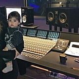 Shakira and Milan Pique spent some time in the recording studio in London. Source: Twitter user shakira