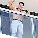 Mark Wahlberg Shows Off His Amazing Muscles Shirtless