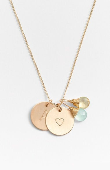For the Grandma Who Keeps Her Family Close: Nashelle Initial and Heart Necklace