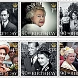 The Full Set of Special Stamps For the Queen's 90th Birthday