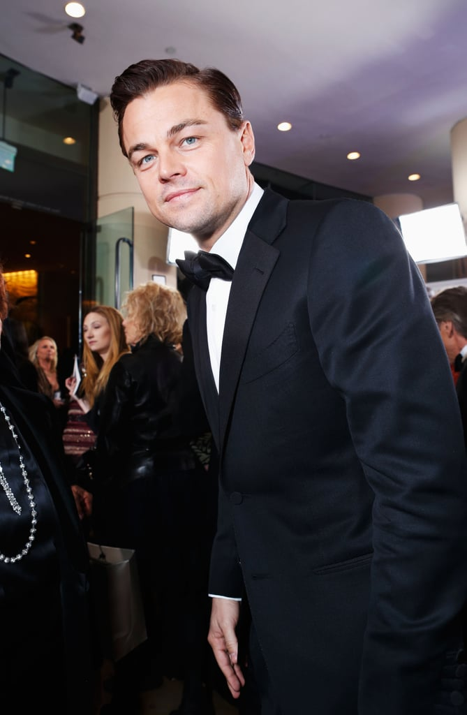 Leonardo DiCaprio stopped for one last photo before heading inside the Golden Globes.