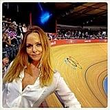 Stella McCartney had a great seat from inside the indoor bike track. Source: Instagram user stella_mccartney