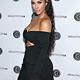 Kim kept things sexy when she attended the Beautycon festival in LA in July 2018.