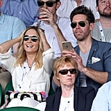 Joanne Froggatt and James Cannon at Day 2 of Wimbledon