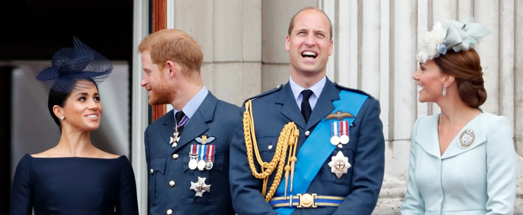 Pictures of Harry, William, Kate, and Meghan
