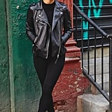 On Assistant Editor Marina Liao: H&M jacket, Zara leggings, and Sam Edelman boots.