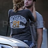 Miley and Liam shared an affectionate moment.
