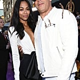 Pictured: Zoe Saldana and Vin Diesel