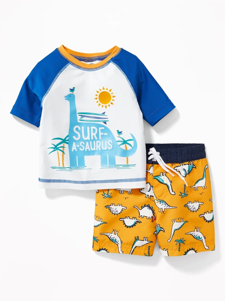 Old Navy Graphic Rash Guard and Trunks Set | Kid Swimsuits on Sale ...