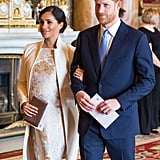 March: Meghan and Harry joined the family for a reception marking the 50th anniversary of Prince Charles's investiture.