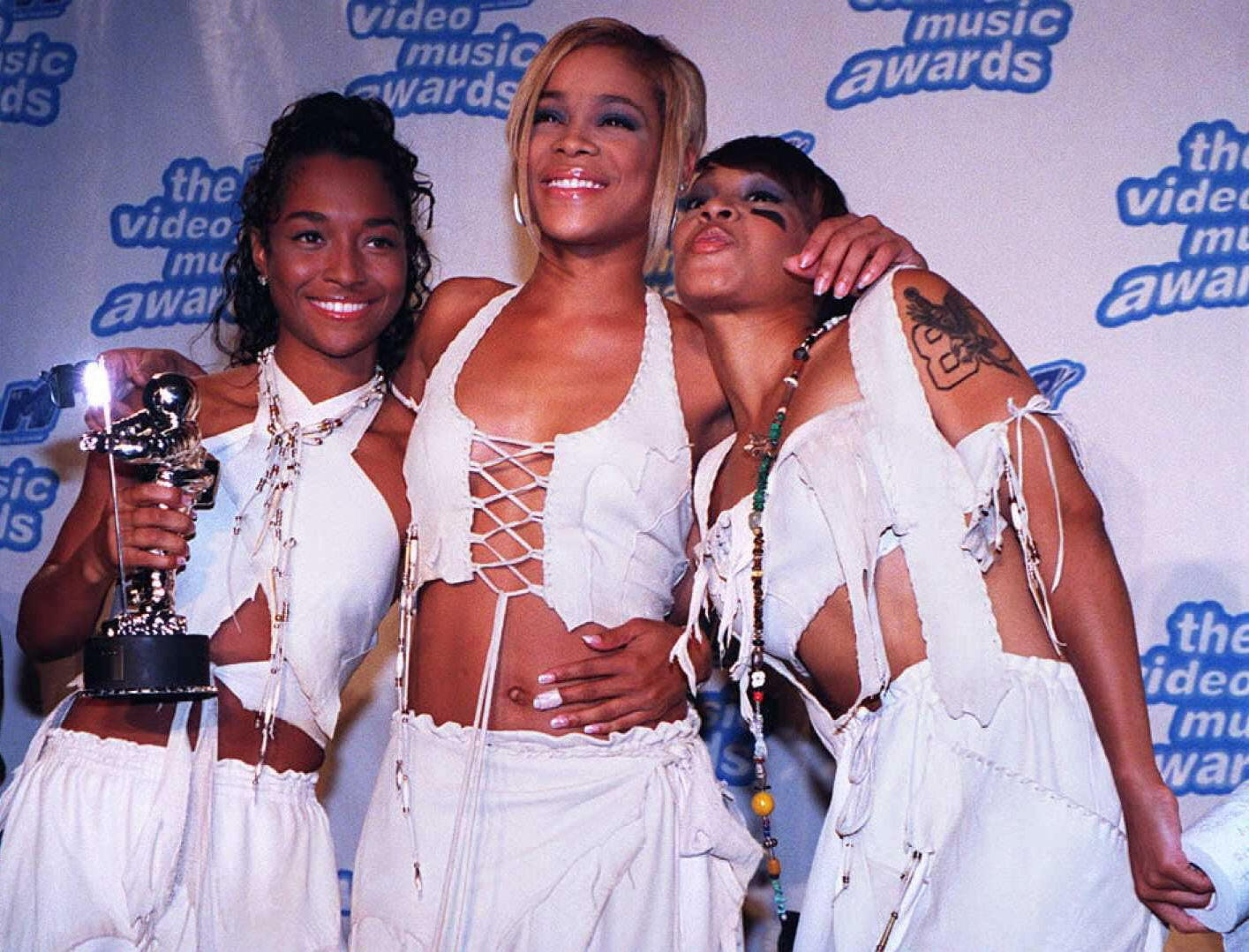 """TLC won four awards for their """"Waterfalls"""" video in 1995."""