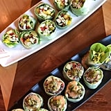 Carthay Circle Lounge: Summer Garden Roll and Spicy Jerk Chicken Roll