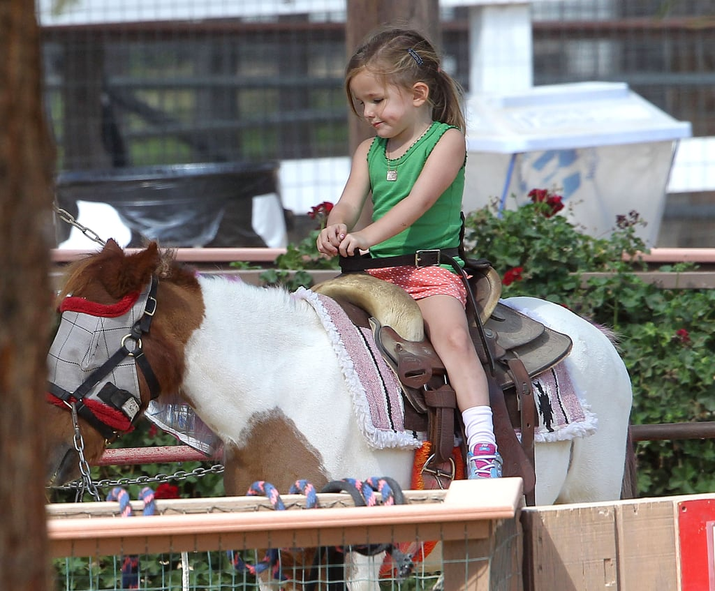 Seraphina Affleck rode a pony in LA.