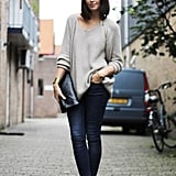 We'd wear this sexy-cum-casual look on a date.  Photo courtesy of Lookbook.nu