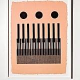Block Shop Piano Woodblock Print
