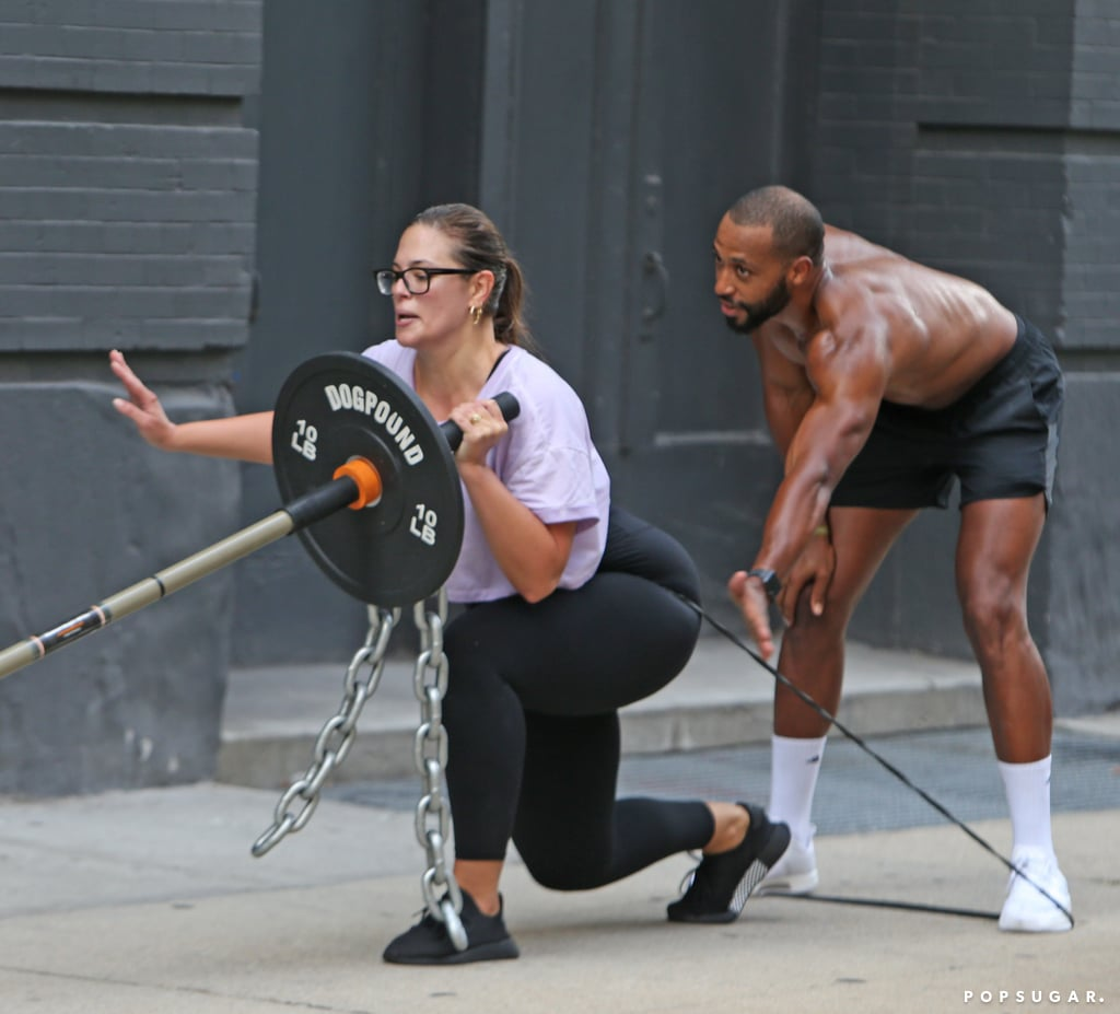 Ashley Graham and Justin Ervin Working Out in NYC July ...