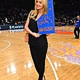 Kate Upton went with an all-black ensemble to cheer on the NY Knicks in May 2012.