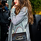 Selena Gomez Wearing an Alexander McQueen Bag in NYC