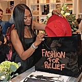 Naomi Campbell at the Fashion For Relief Charity Pop-Up Store