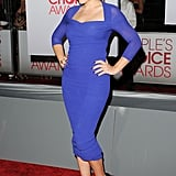 Busy Philipps worked her blue Carven dress at the People's Choice Awards.