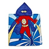 Kids Printed Superhero Hooded Beach Towel