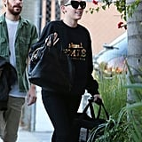 Miley Cyrus went out in LA with her new puppy Bean.