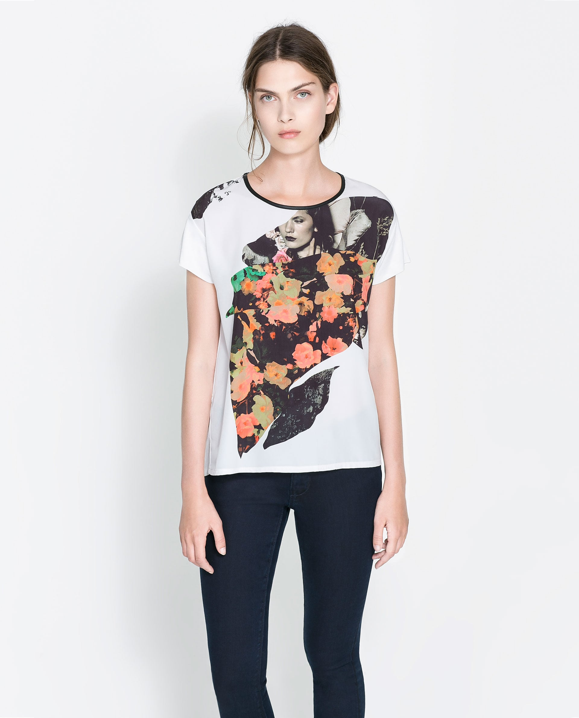 Try this Zara printed t-shirt ($30) — because we like our tees a little artsy.